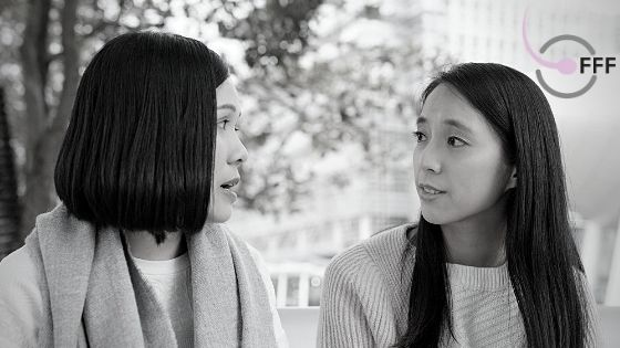 two-friends-talking-for-blog-post b&w
